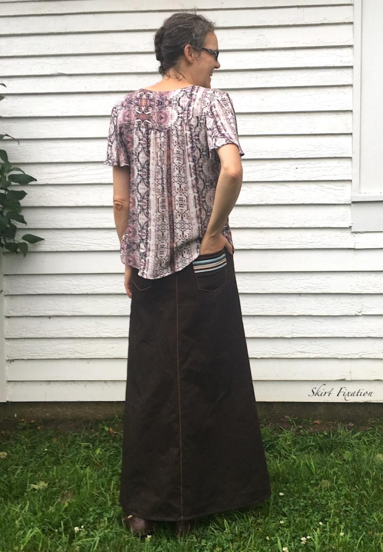Sandbridge Maxi Skirt sewn by Skirt Fixation