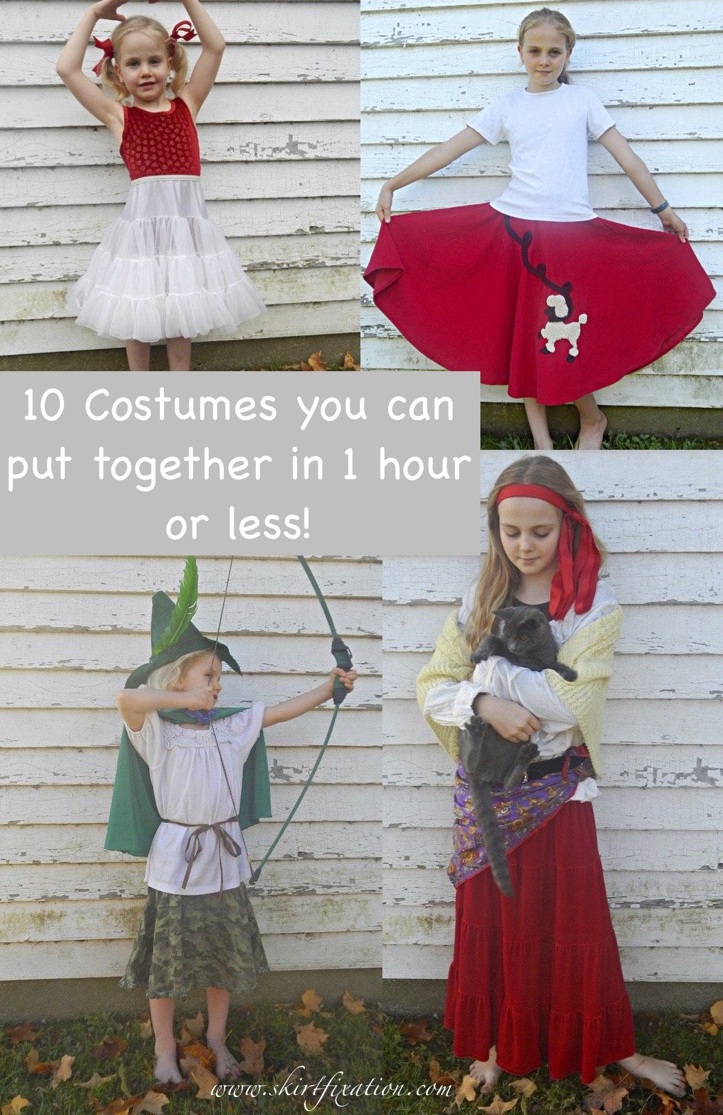 10 skirt costumes you can make in 1 hour or less!