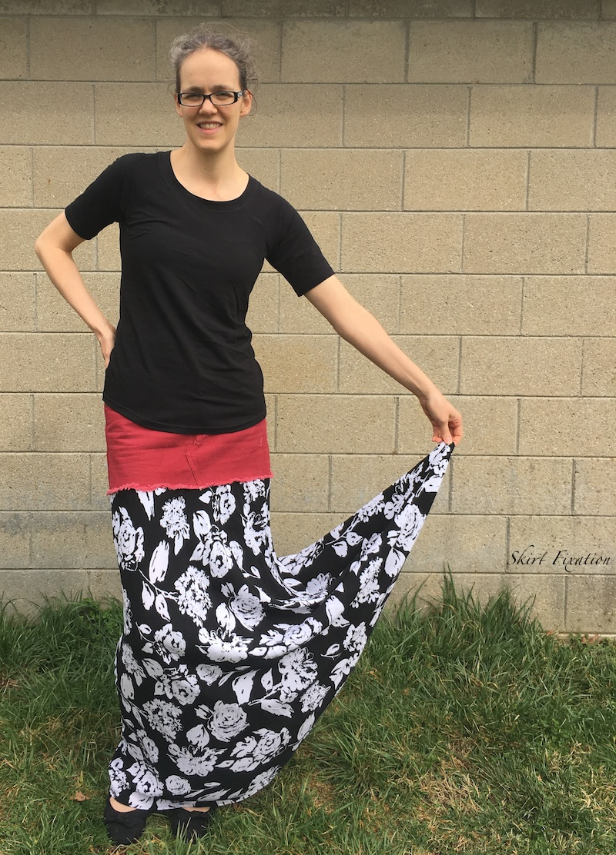 Mini skirt refashion by Skirt Fixation