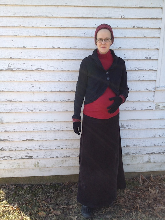 turtleneck with maternity maxi