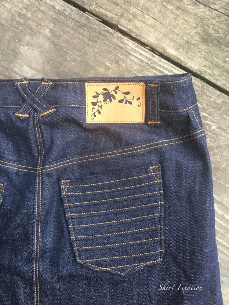 Special tag for denim by Skirt Fixation