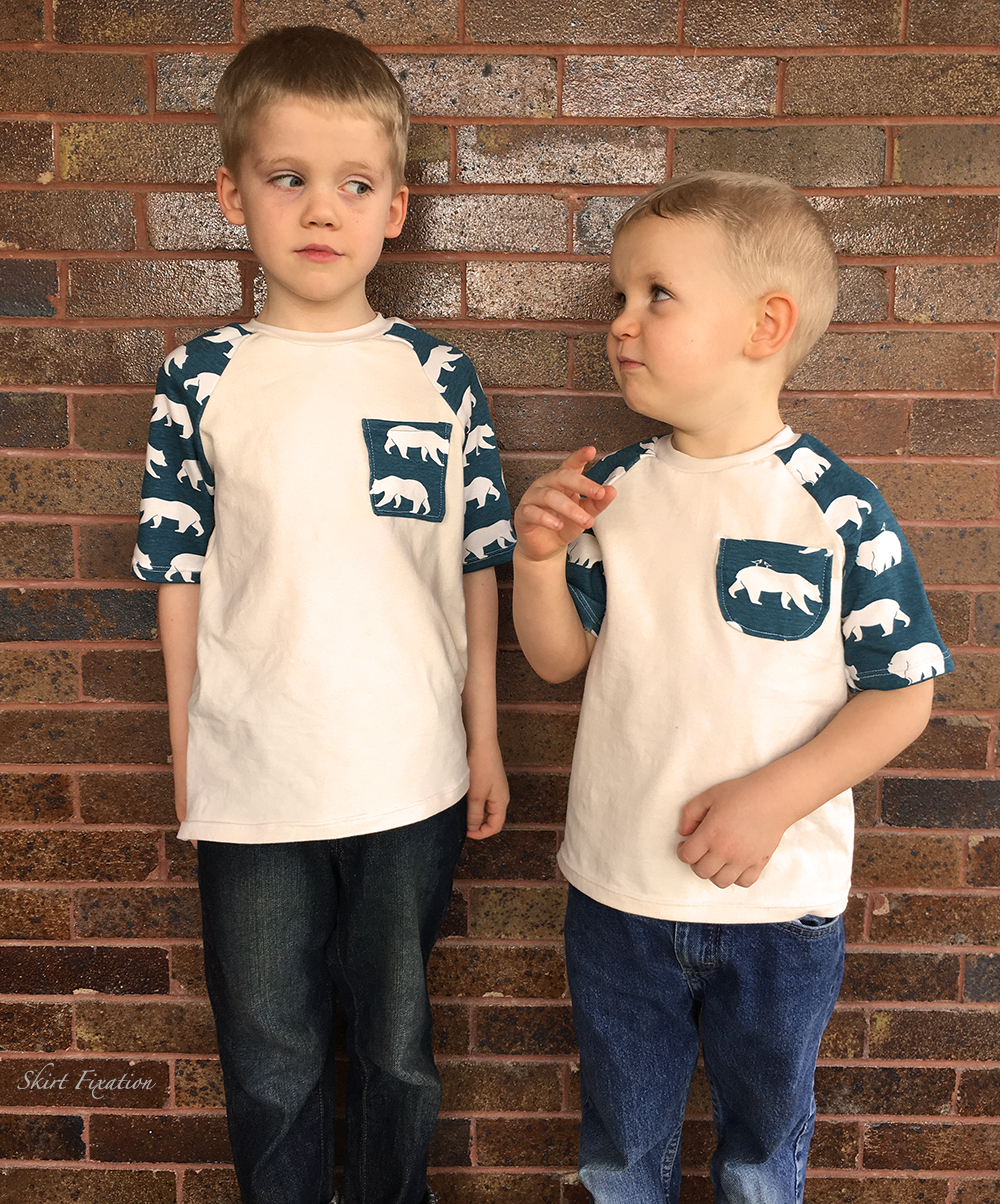Polar Bear Raglan t-shirts sewn by Skirt Fixation
