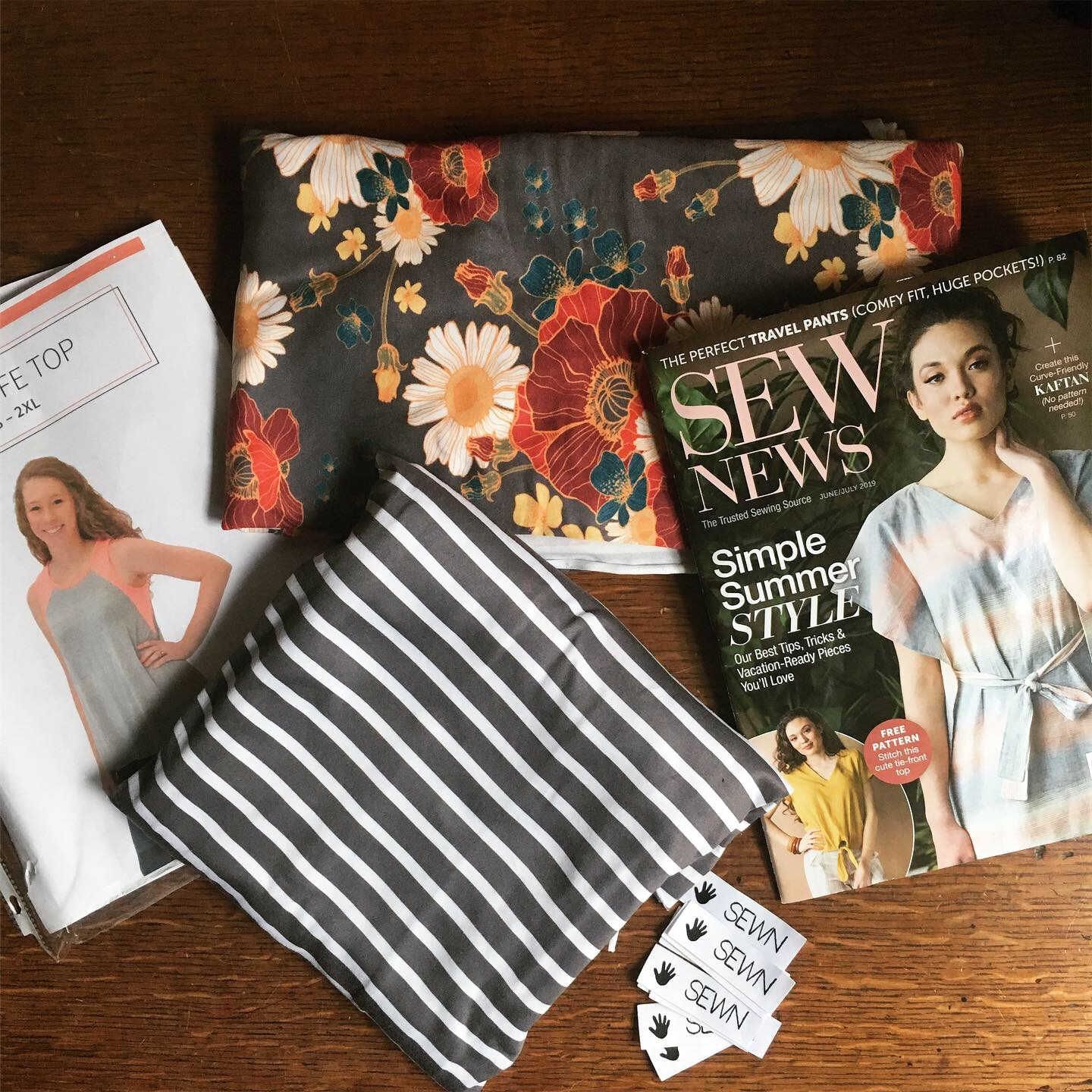 Santa Fe Top sewn and reviewed by Skirt Fixation