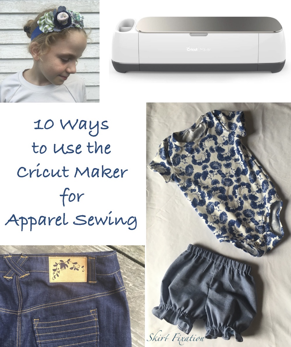 10 Ways to Use the Cricut Maker for Apparel Sewing by Skirt Fixation