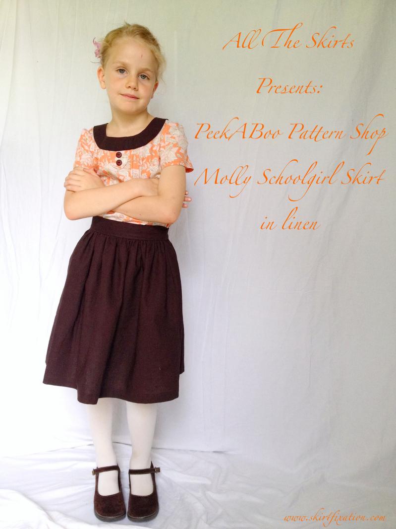 The Molly Schoolgirl Skirt sewn by Skirt Fixation