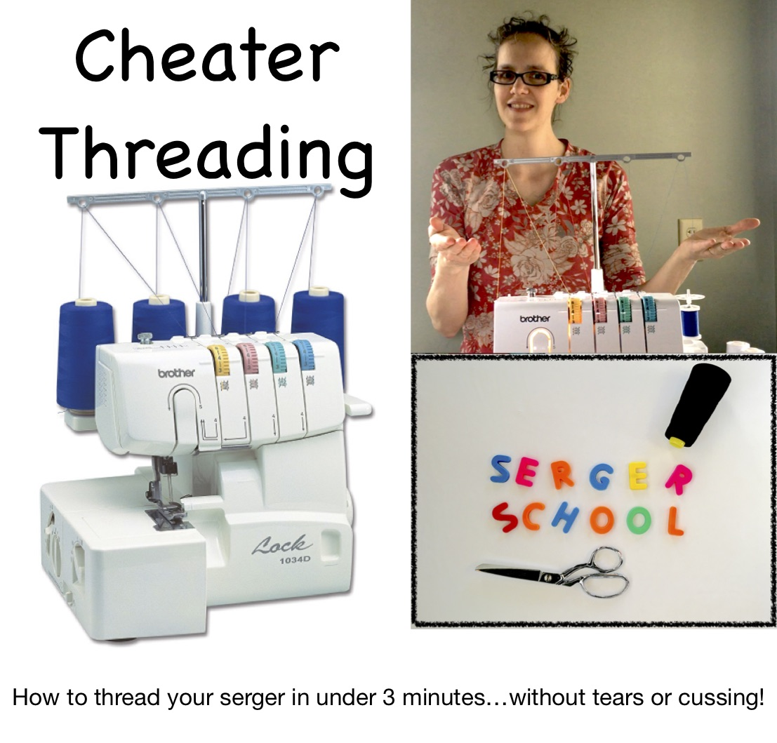 How to thread your serger the cheater threading method from Skirt Fixation