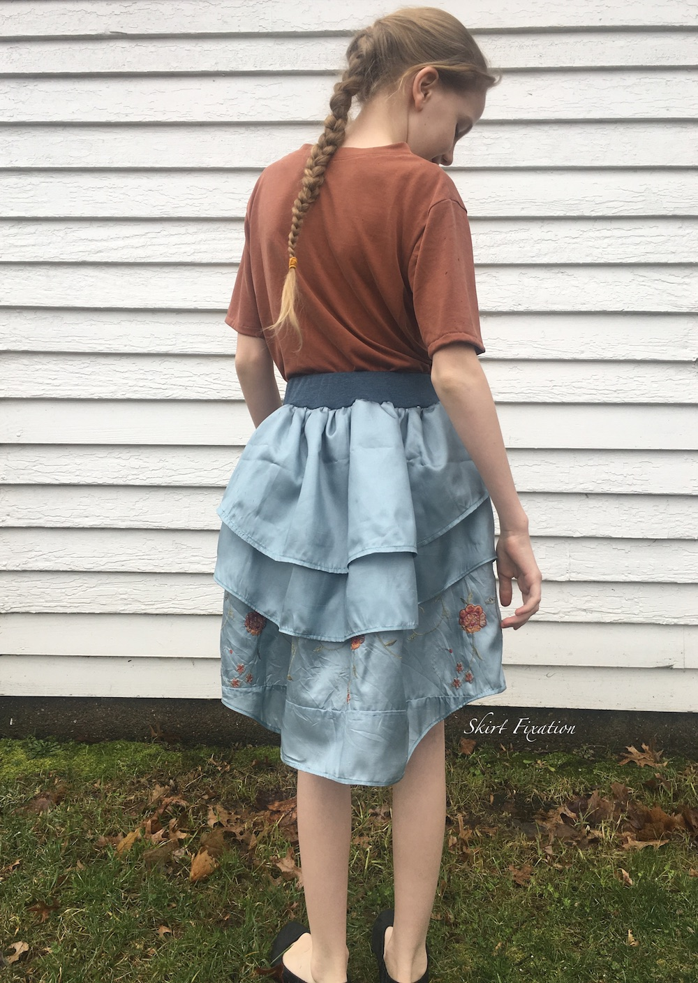 Jacky V T-shirt and Abby's Ballerina Skirt sewn and reviewed by Skirt Fixation