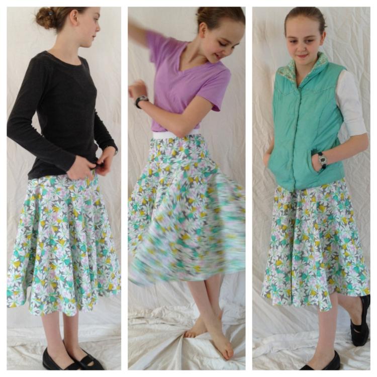 Drop & Twirl Circle Skirt sewn by Skirt Fixation