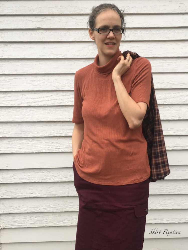 Flannel Shirt outfit sewn by Skirt Fixation