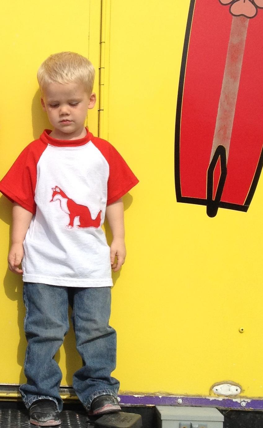 reverse applique fox shirt