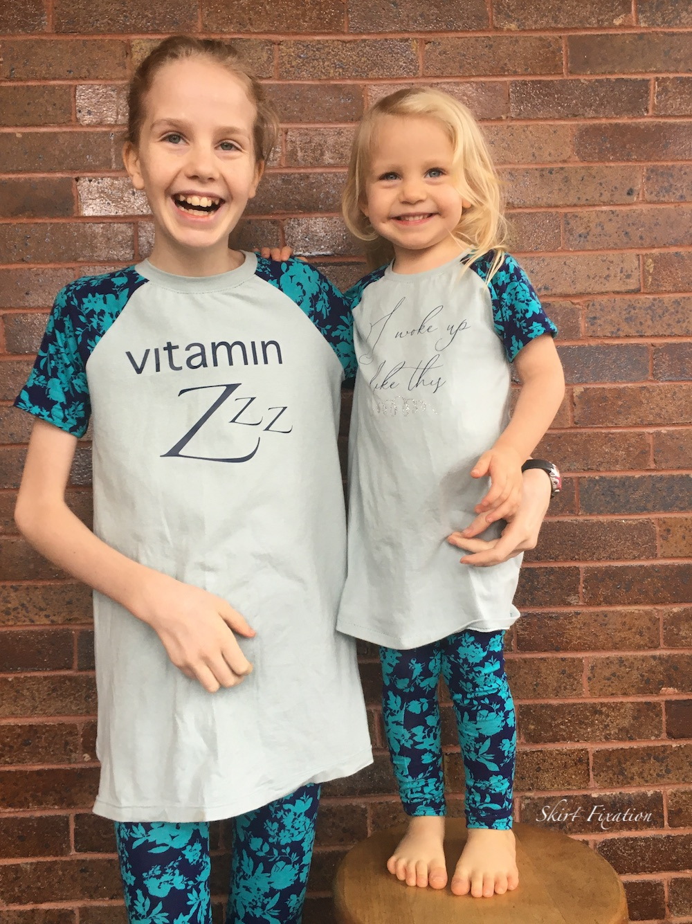 Vitamin Z pajama shirt created and sewn by Skirt Fixation