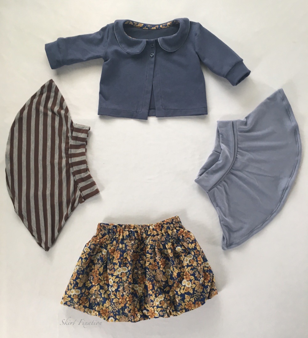 Baby Capsule Wardrobe created and sewn by Skirt Fixation