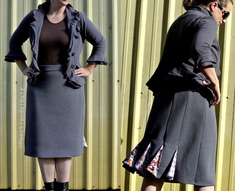 Knee Length Runway Skirt by Savvy Patterns