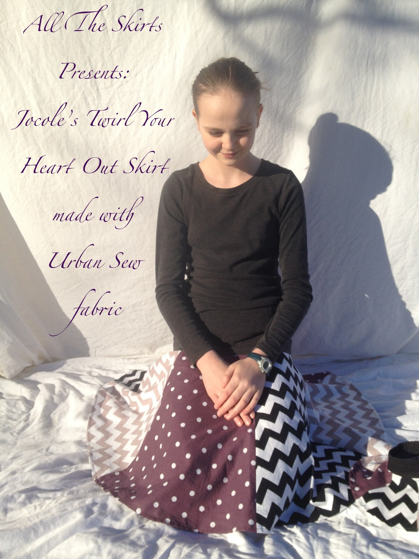 Drop And Twirl Jocole Skirt Pattern sewn with fabric from Urban Sew by Skirt Fixation