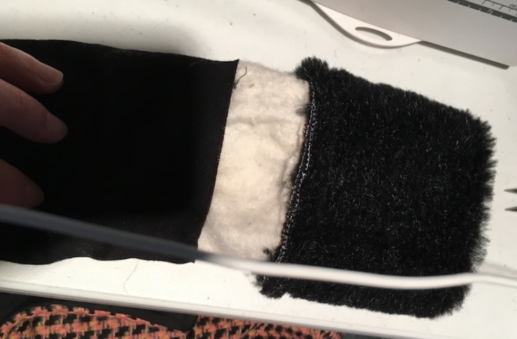 Skirt Fixation's guide to add faux fur cuffs to any garment.