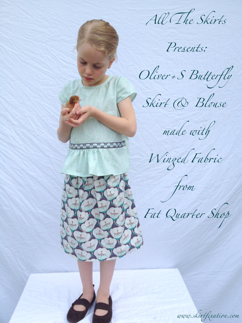 Butterfly Top and Skirt made by Skirt Fixation