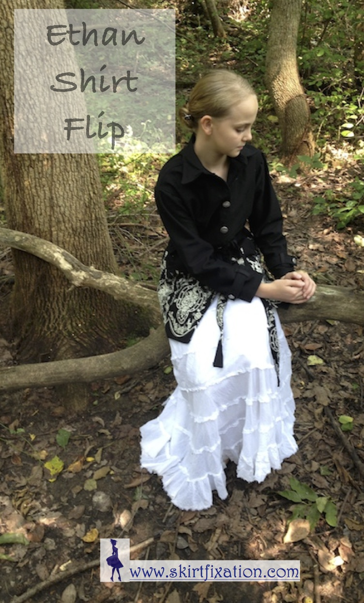 Ethan Shirt Flipped to Black Denim Jacket by Skirt Fixation