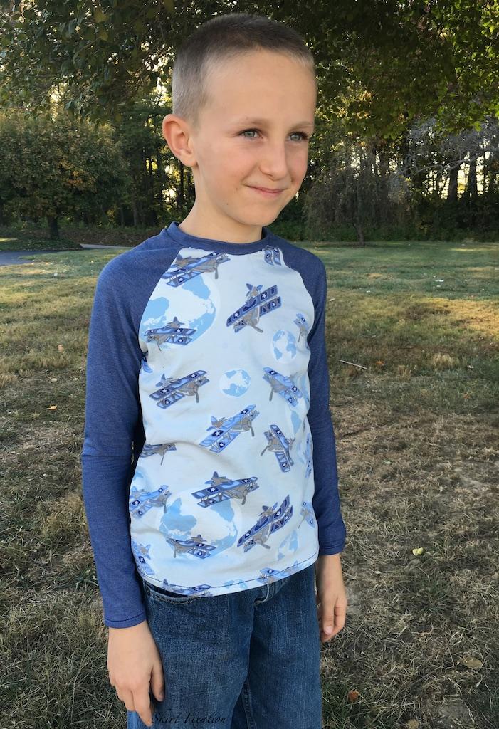 Oliver+S Field Trip Raglan T-shirt sewn by Skirt Fixation KCW day 2