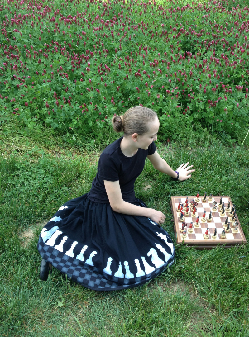 Chess outfits created and sewn by Skirt Fixation for Crafting Con