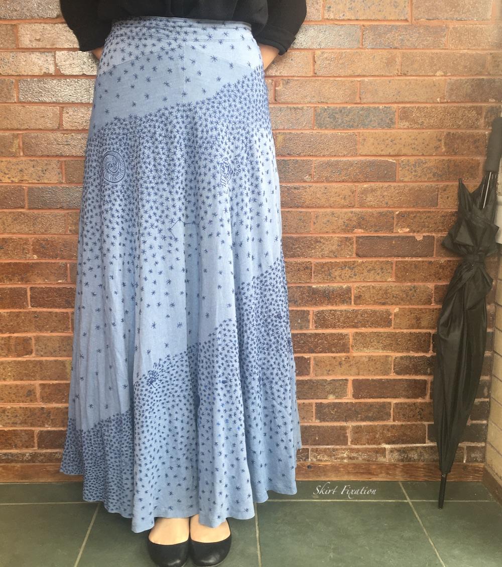 Embroidered quarantine skirt by Skirt Fixation