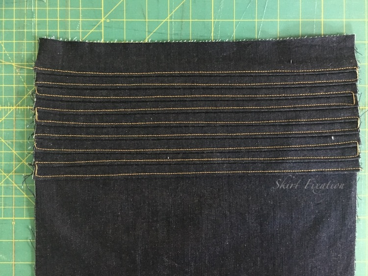 Pleated pocket tutorial by Skirt Fixation