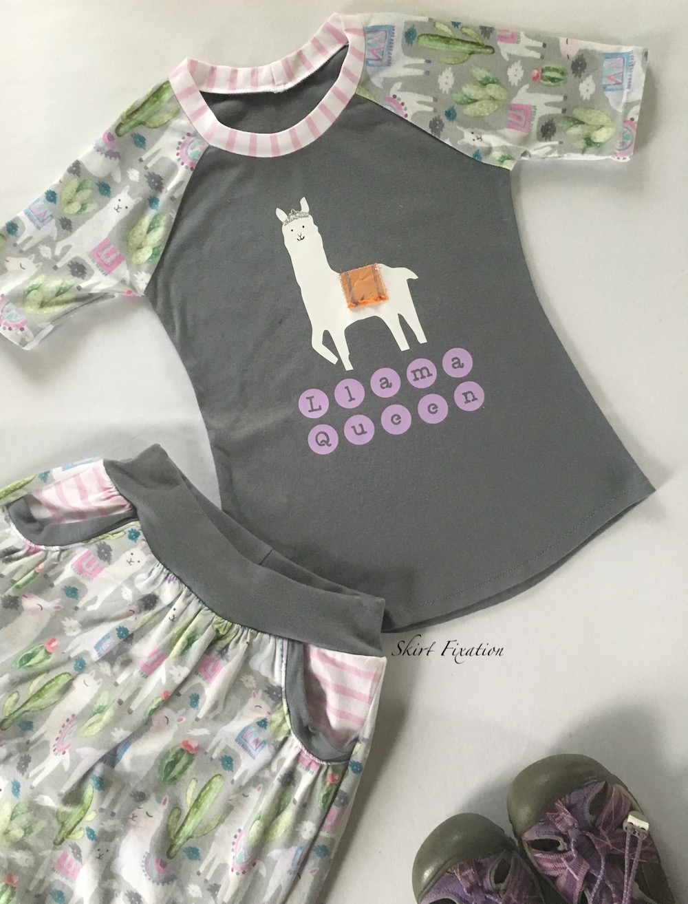Llama Queen outfit sewn by Skirt Fixation