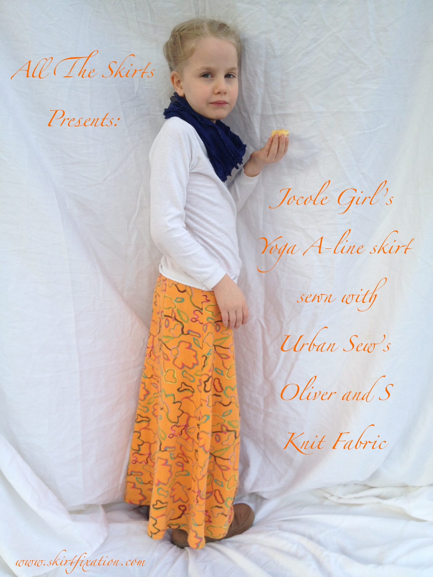 Jocole Yoga A-line Skirt sewn with Urban Sew fabric by Skirt Fixation