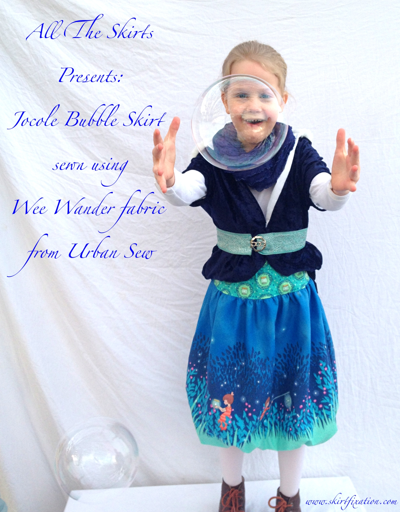 Jocole bubble skirt sewn by Skirt Fixation using Urban Sew fabric