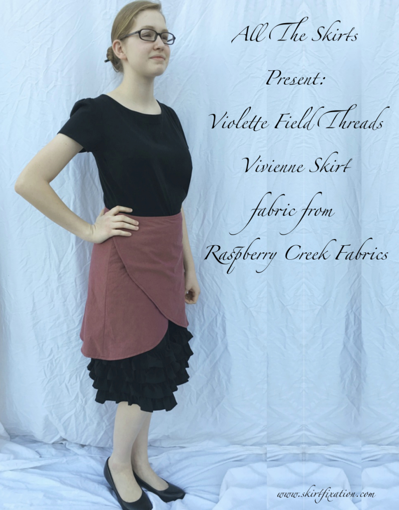 Women's Vivienne skirt pattern sewn by Violette Field Threads with fabric from Raspberry Creek Fabrics