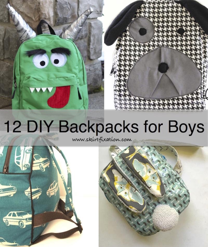 12 Boy Backpacks to sew.