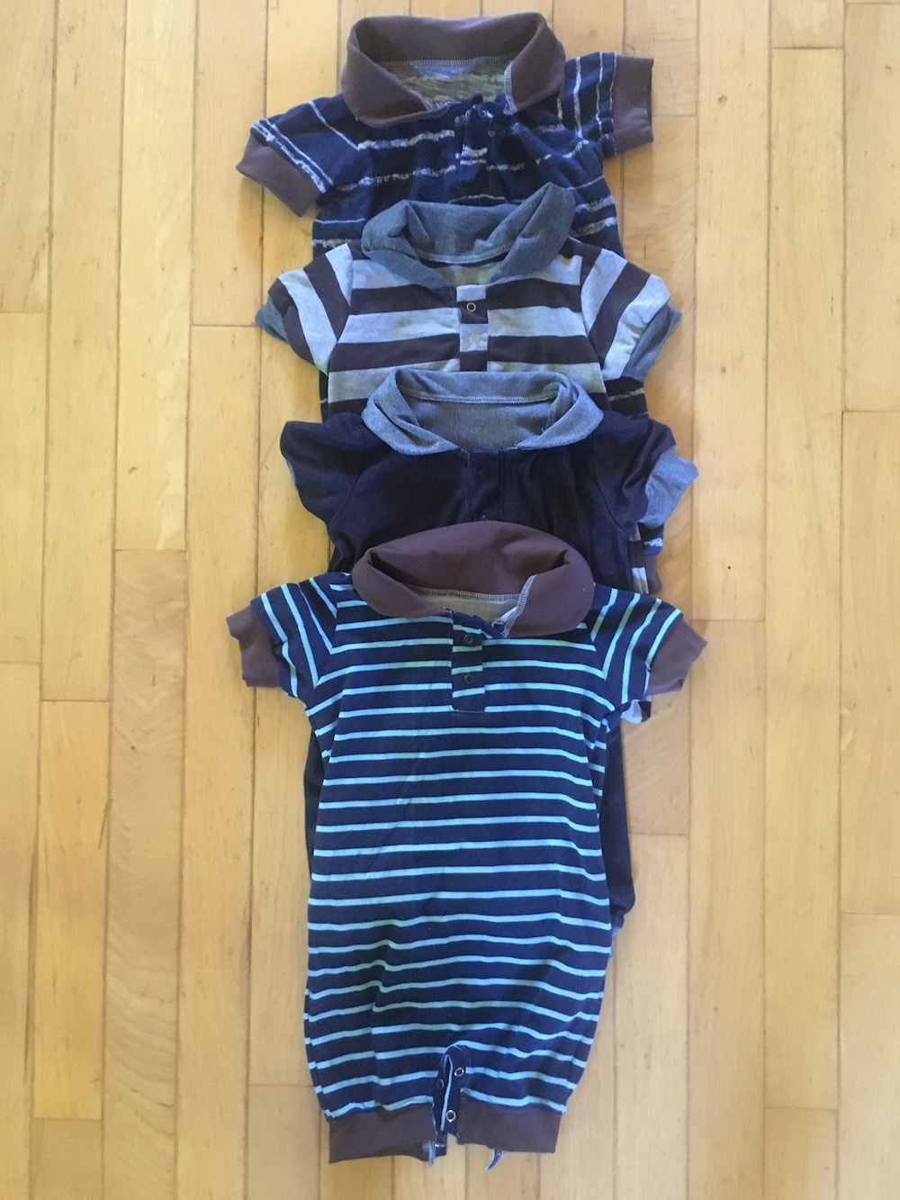 1 year old BOY capsule wardrobe created and sewn by Skirt Fixation