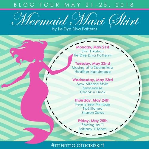 Skirt Fixation for Tie Dye Diva Patterns Mermaid Maxi Tour
