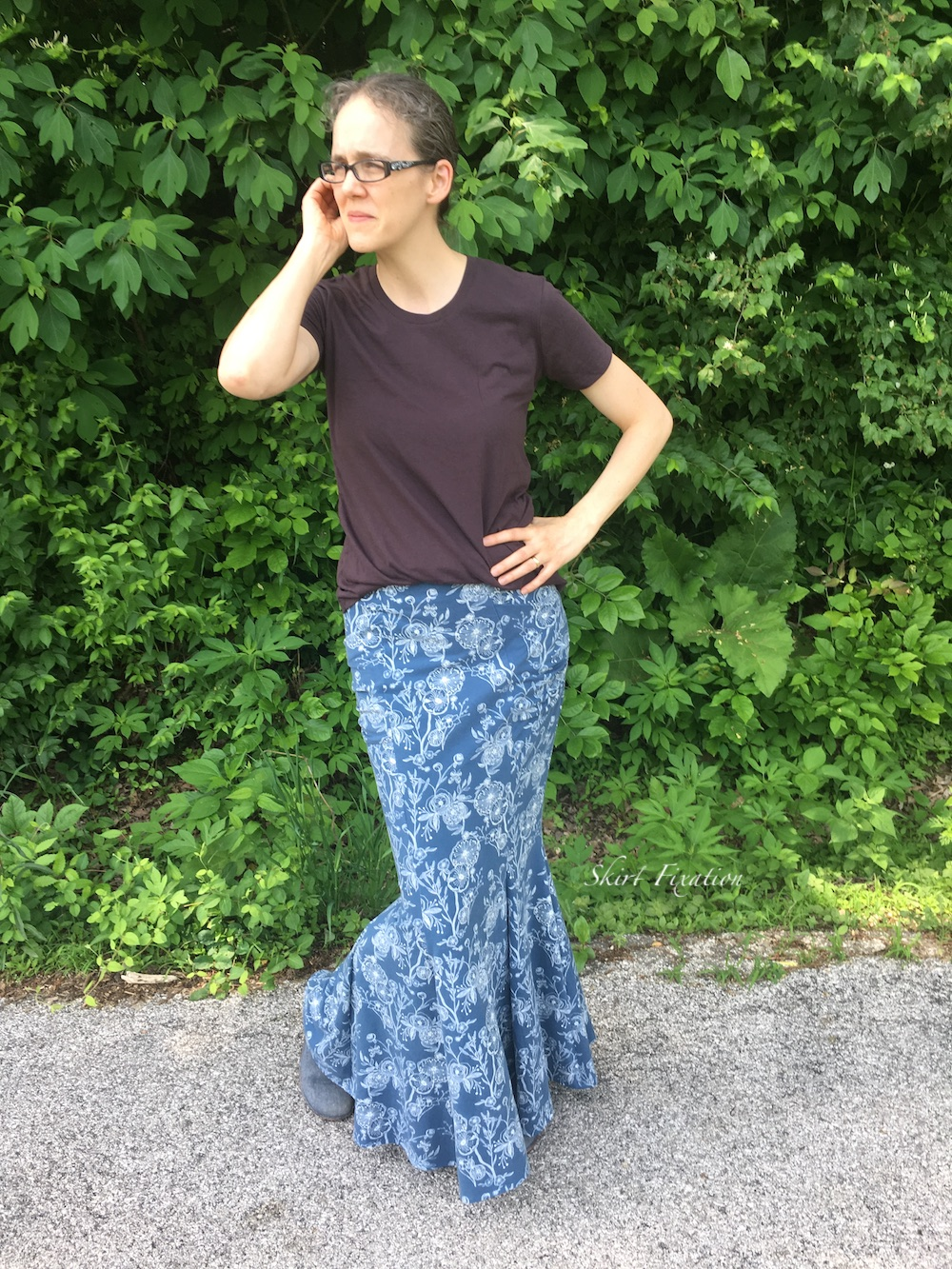 Mermaid Maxi Skirt pattern sewed and reviewed by Skirt Fixation