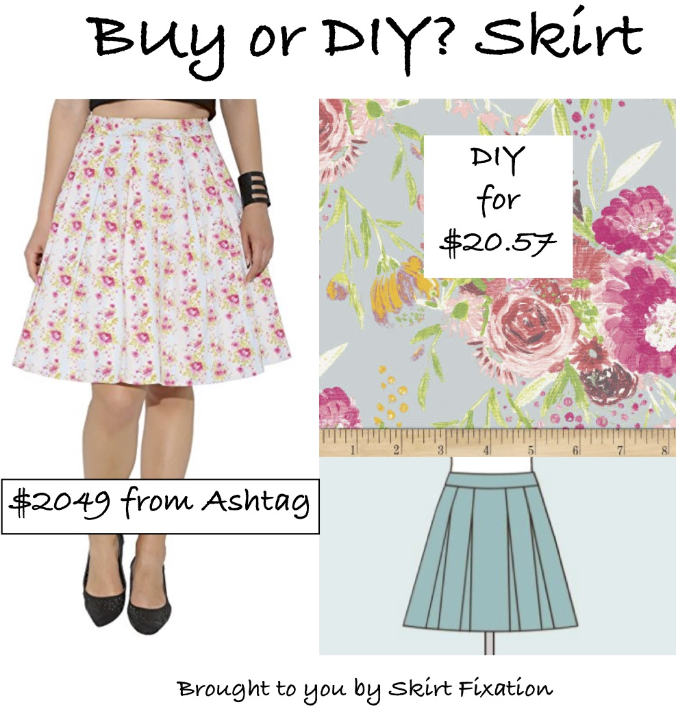 Skirt Fixation teaches you how to save $2000 on an Ashtag Pleated skirt by sewing your own.