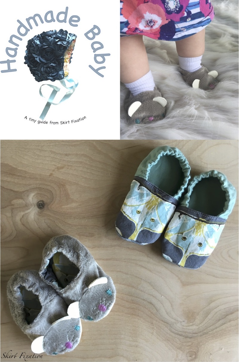 Handmade Baby shoes sewn by Skirt Fixation