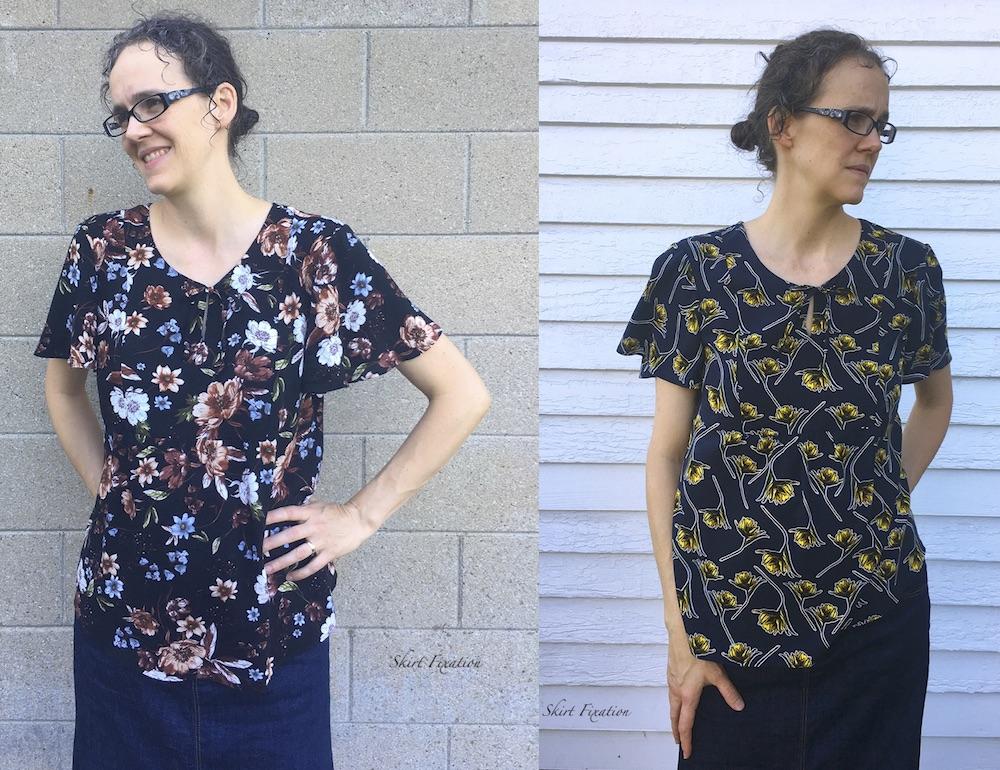 Rayon Challis vs Viscose Poplin compared by Skirt Fixation