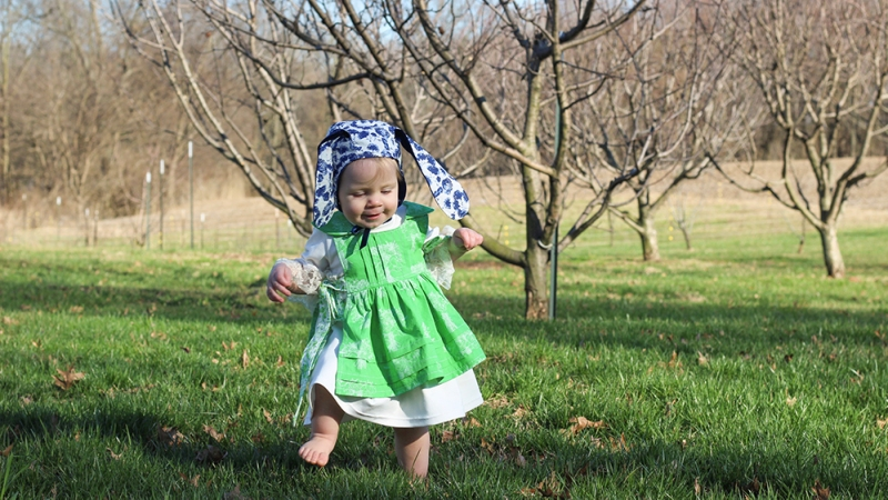 Velveteen Rabbit Inspired baby outfit sewn by Skirt Fixation