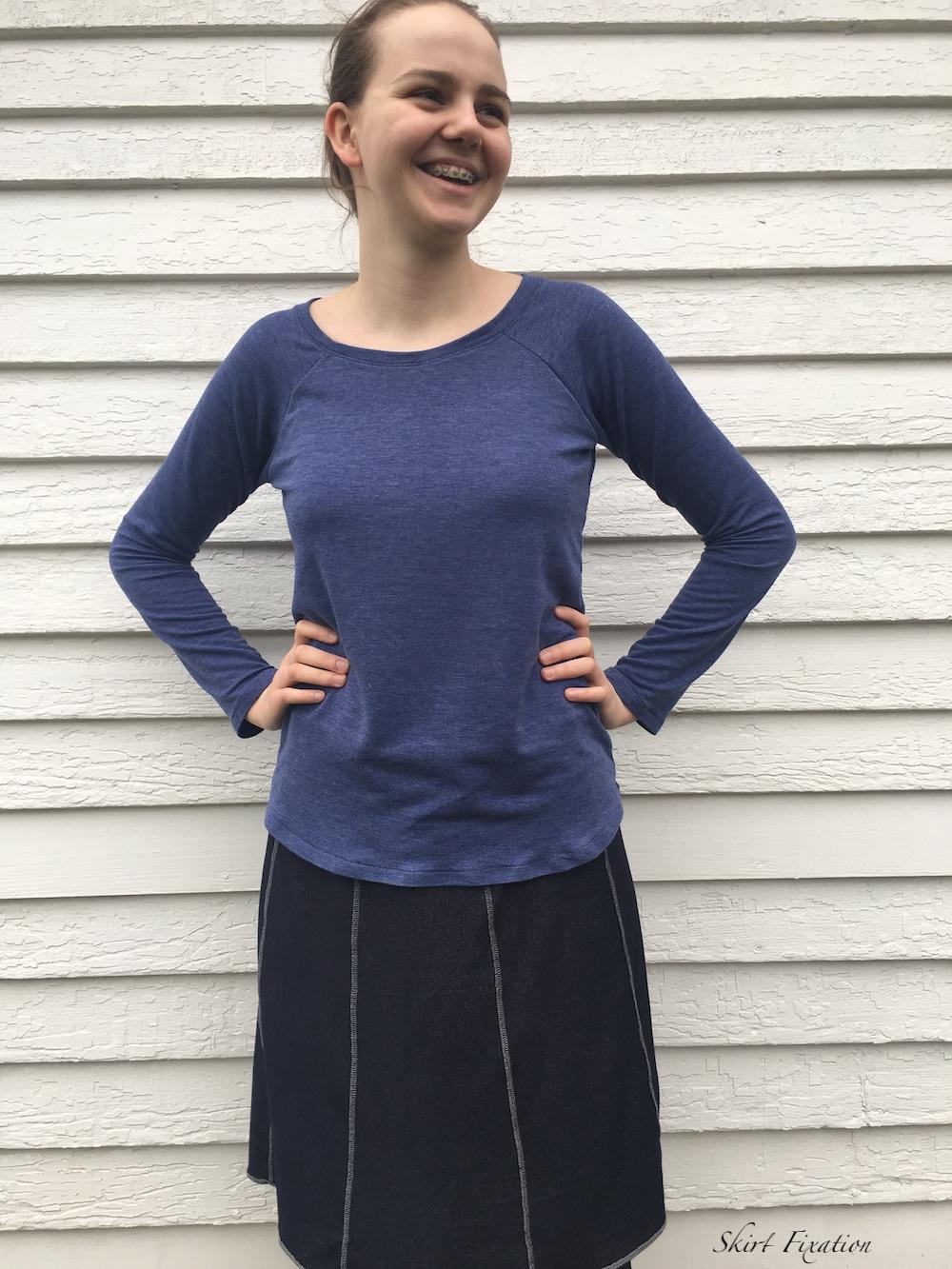 Reversible Paneled Skirt tutorial by Skirt Fixation