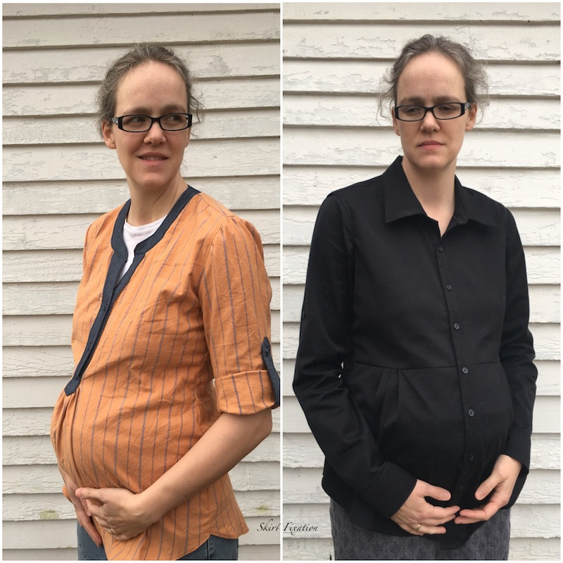2 tutorials from Skirt Fixation on how to make the Cheyenne Tunic suitable for maternity wear