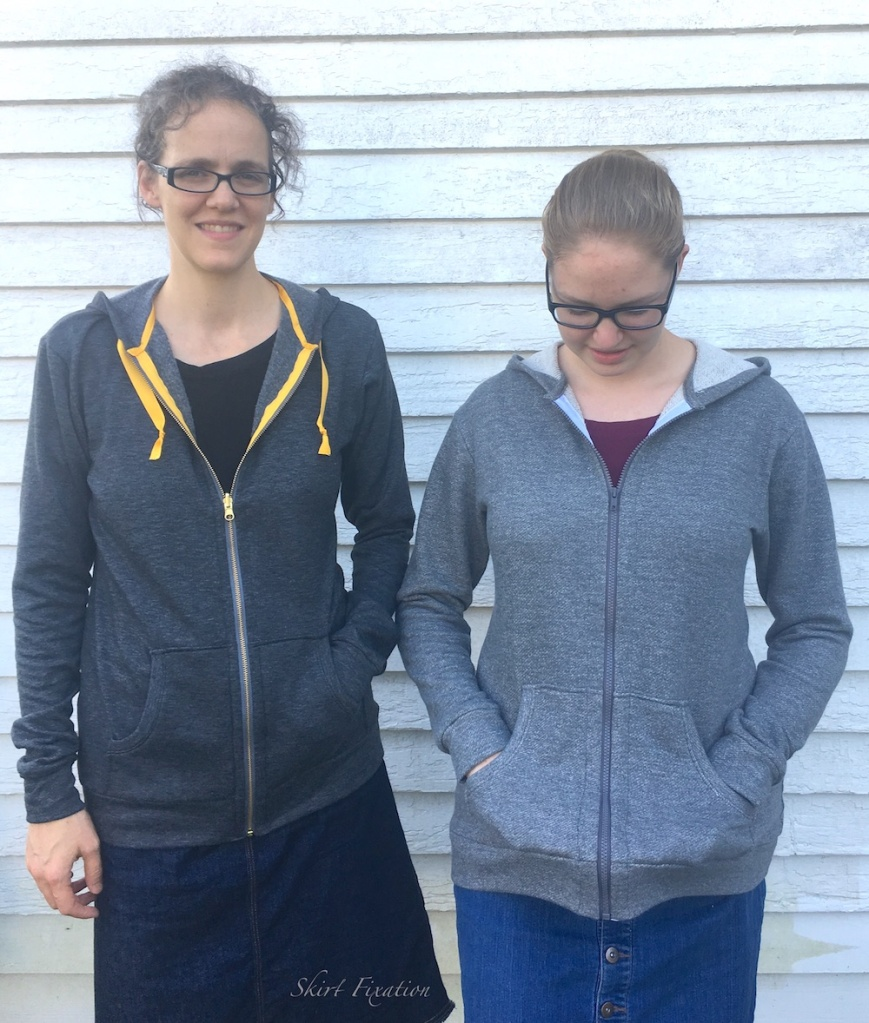 2 Halifax Hoodies sewn by Skirt Fixation
