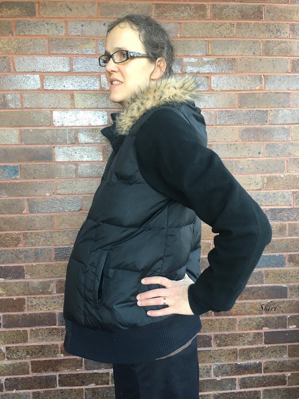 DIY Maternity Jacket Refashion by Skirt Fixation
