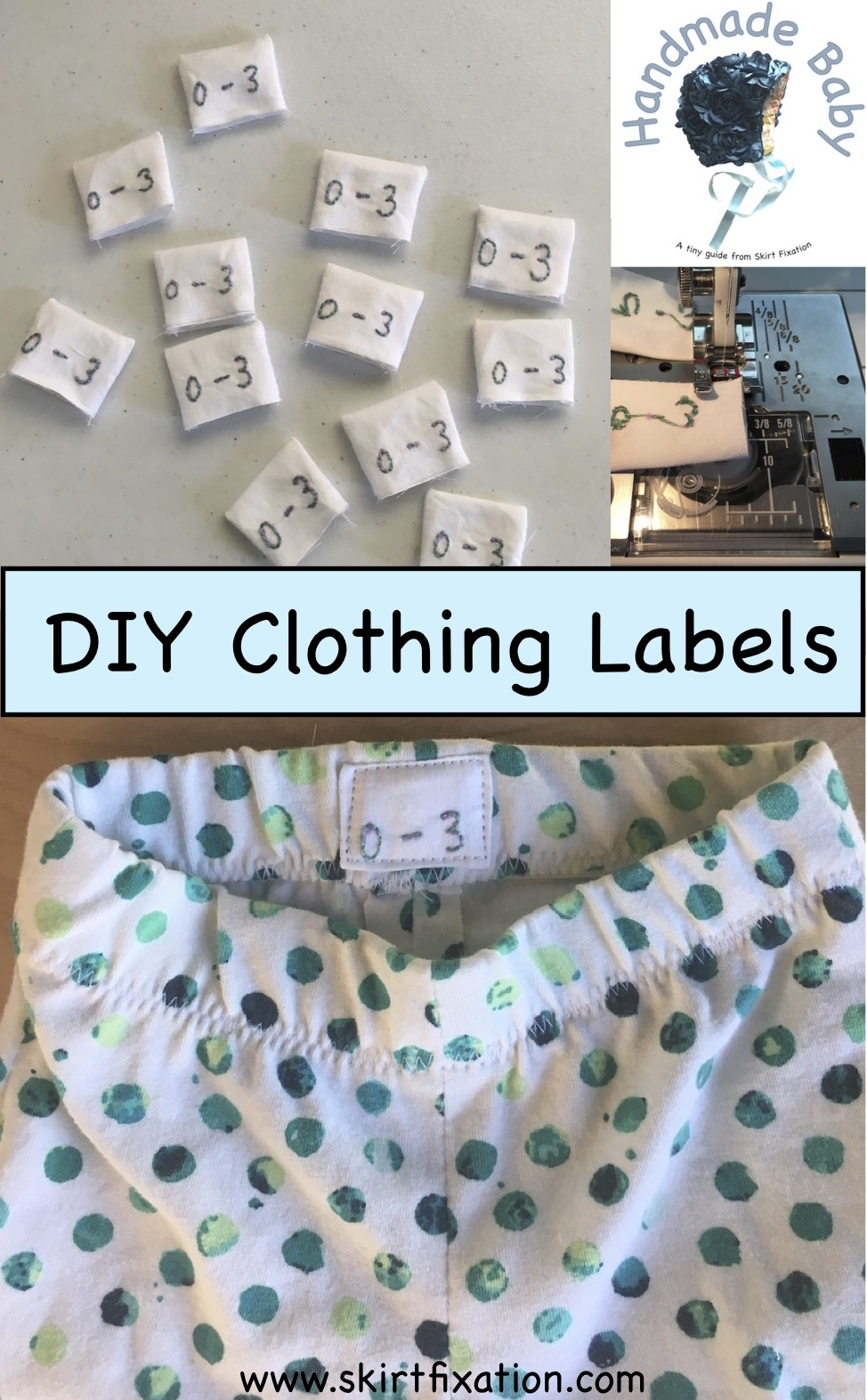 DIY Clothing Labels tutorial by Skirt Fixation