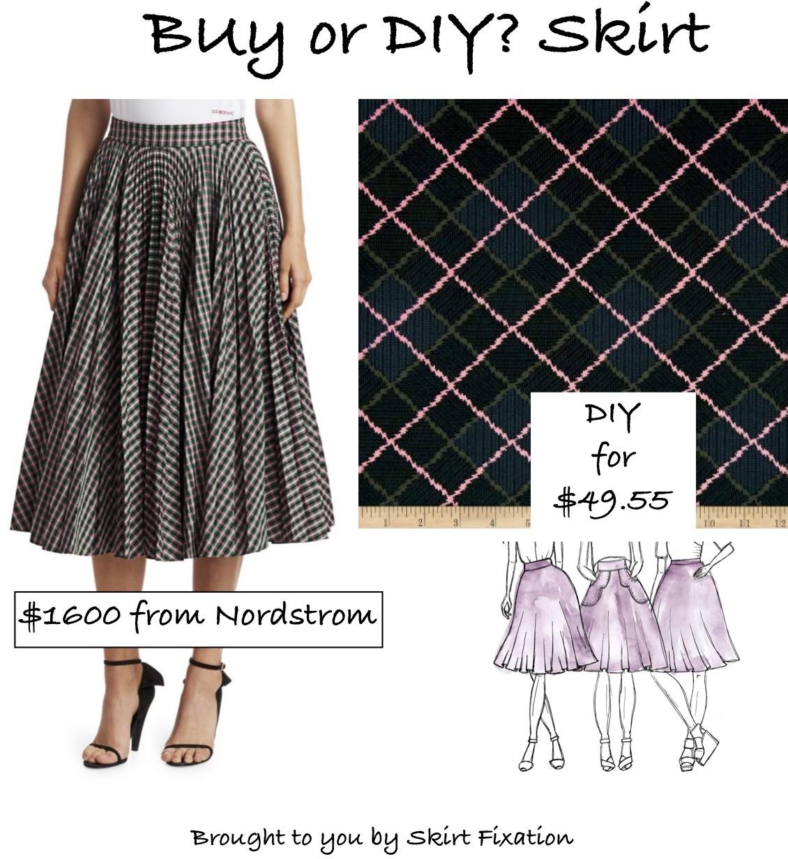 Buy or DIY Calvin Klein skirt tutorial from Skirt Fixation