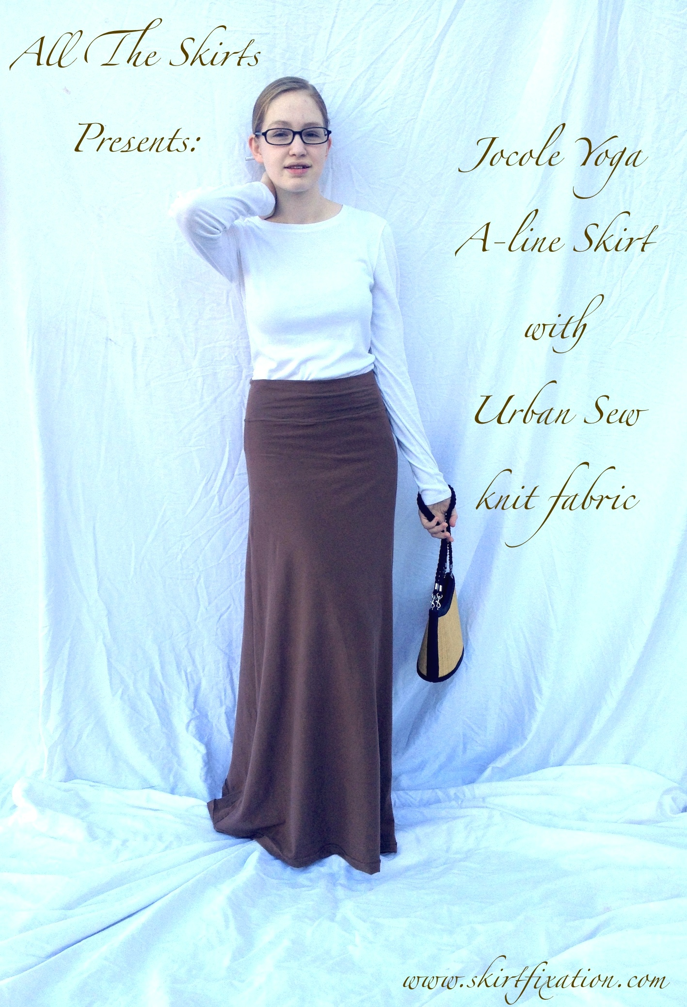 Jocole Yoga A-Line skirt sewn by Skirt Fixation using Urban Sew knit fabric