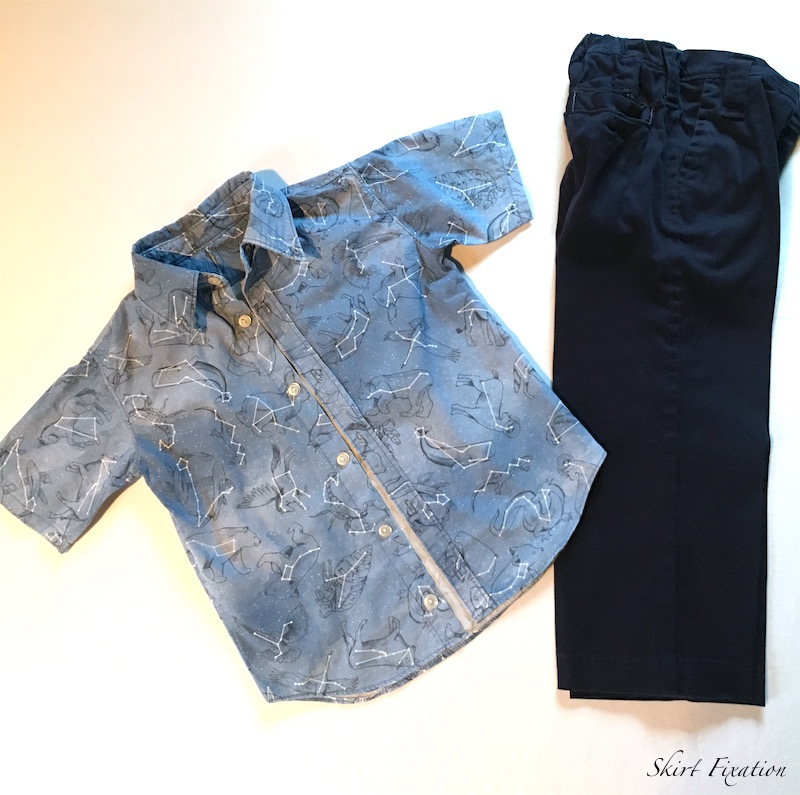Kindergarten mini wardrobe sewn by Skirt Fixation