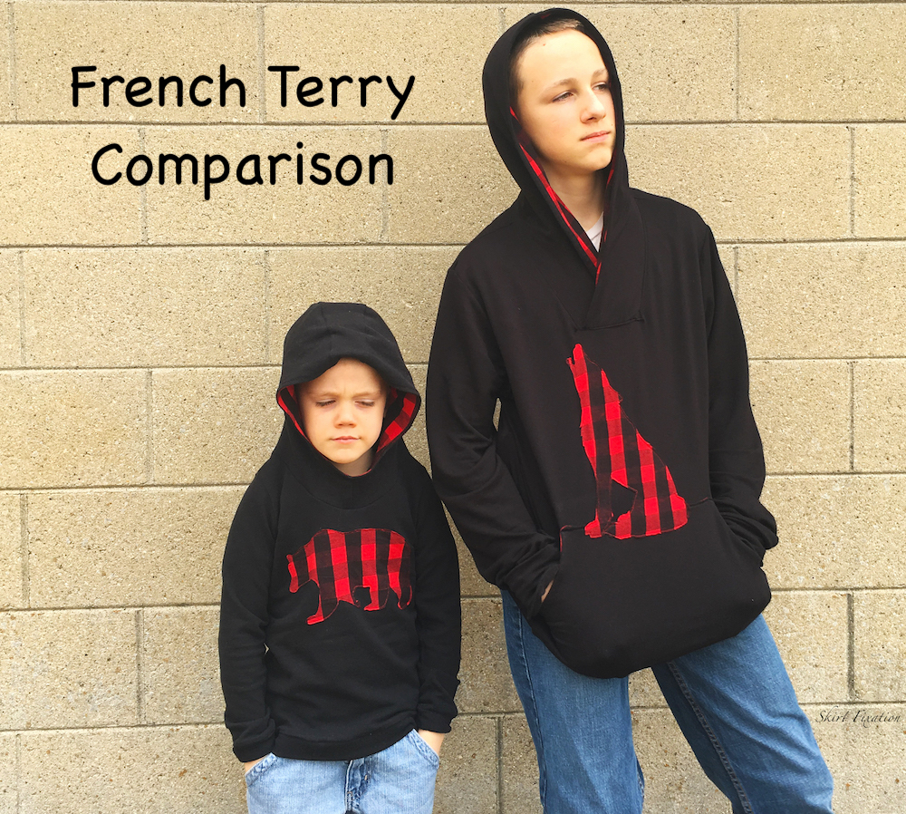 French Terry Comparison by Skirt Fixation