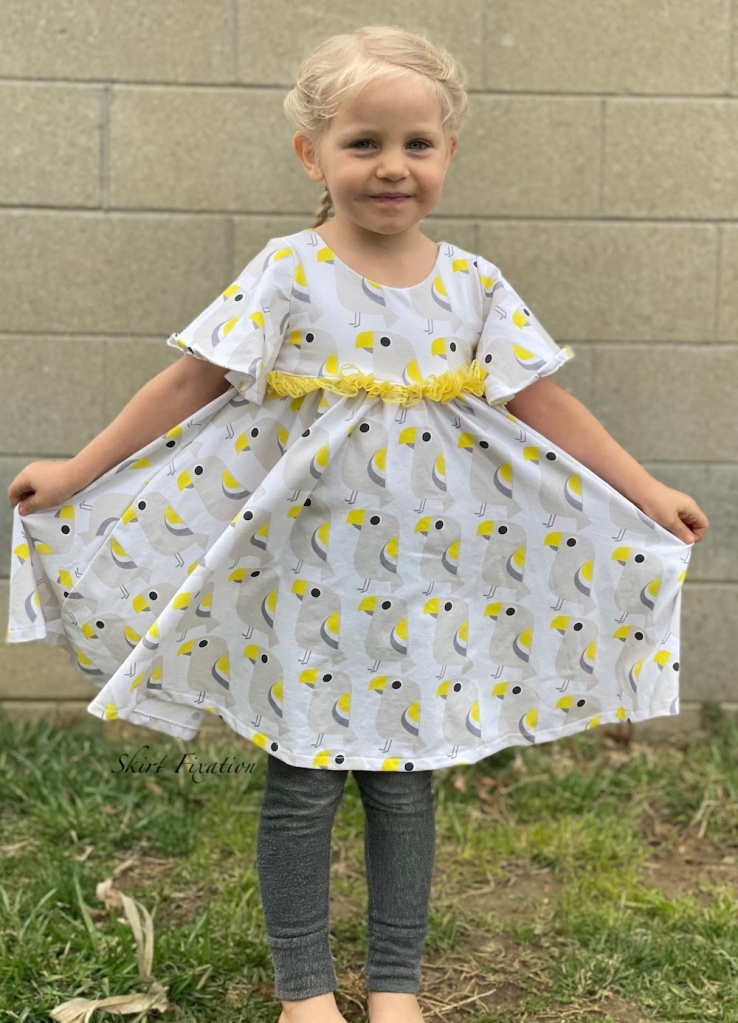 Indigo Dress sewn using Euro Knit fabric by Skirt Fixation.