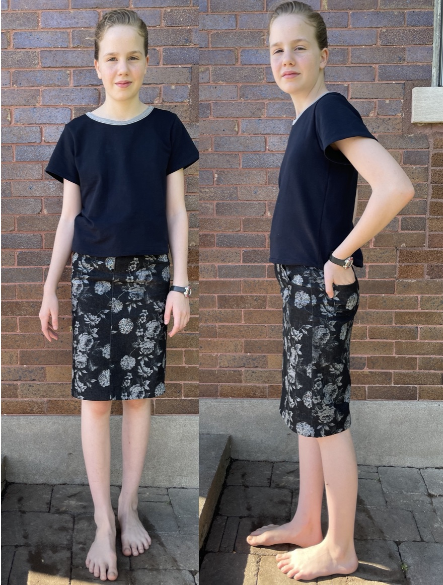 Bacca Bootcuts pattern sewn and reviewed by Skirt Fixation.