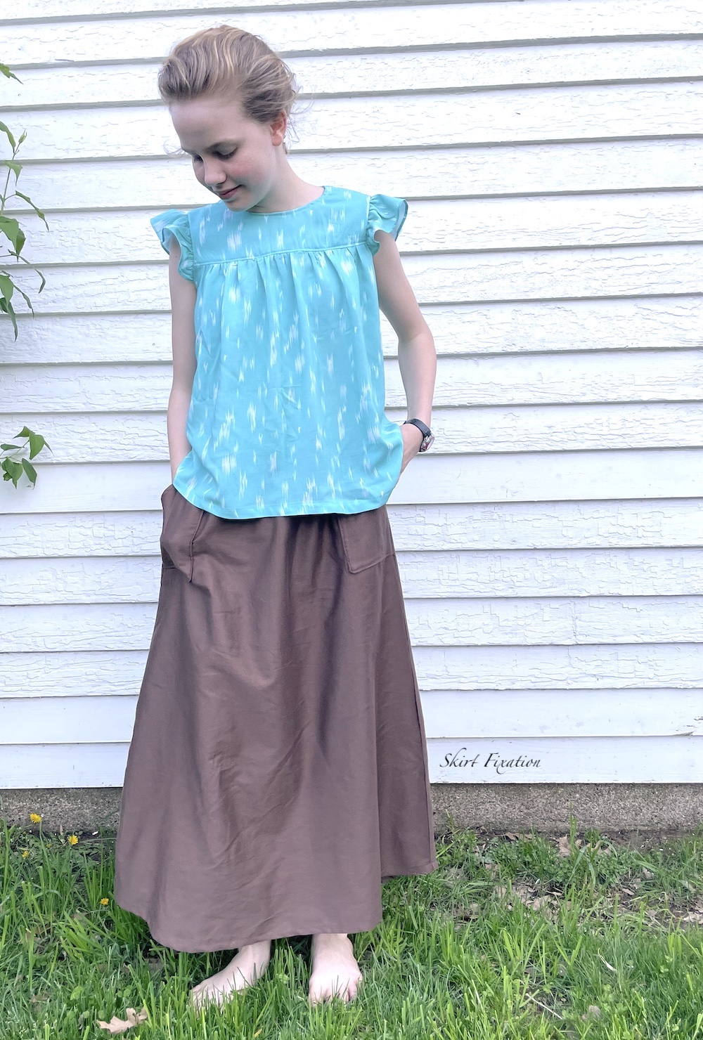 Fragola Top & Dress sewn and reviewed by Skirt Fixation